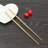 1 Pair Titanium Plating Gold Chopsticks Food Sticks Chinese Reusable Stainless Steel Metal Chop Stick Hashi Tableware For Gifts