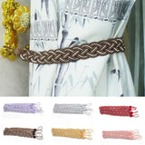 1Pair Rope Window Curtain Knitted Tiebacks Braided Tie Backs Home Room Decor New