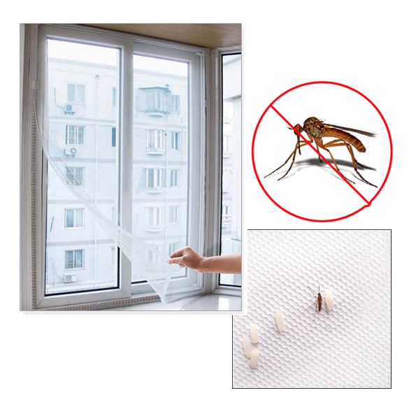 1 pcs Window Screens 1.5*1.3M White Color Nylon Window Door Net Mesh Screen DIY Flyscreen Insect Fly Mosquito Sheer Curtains
