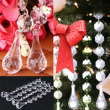 12Pcs/pack 155mm Diamond Acrylic Crystal Bead Curtain Wedding DIY Party Decor Home Living Room Bedroom Decoration