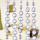 10M/Roll Acrylic Diamond Crystal Bead Curtain Garland Wedding DIY Party Decoration Window Door Divider Sheer Curtains