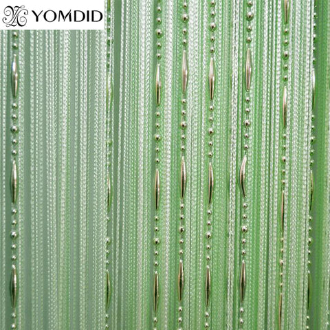 Beads line curtain Modern Yarn Dyed Curtains for Home Living room Hotel Cafe interior decoration Solid Curtain 100 * 200 cm