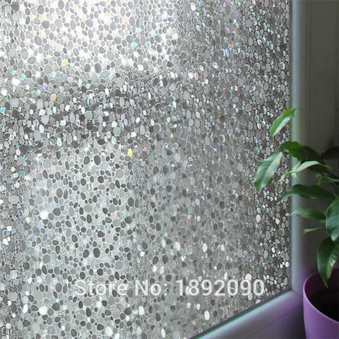 45*200cm/lot Privacy Decorative Window Film Embossing Stone 2D Static Cling Window Stickers For Glass Sliding Door