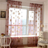 1 PC Stylish Sunflower Pattern Curtains Window Screens Door Balcony Transparent Panel Sheer Curtain for Home Decoration P30
