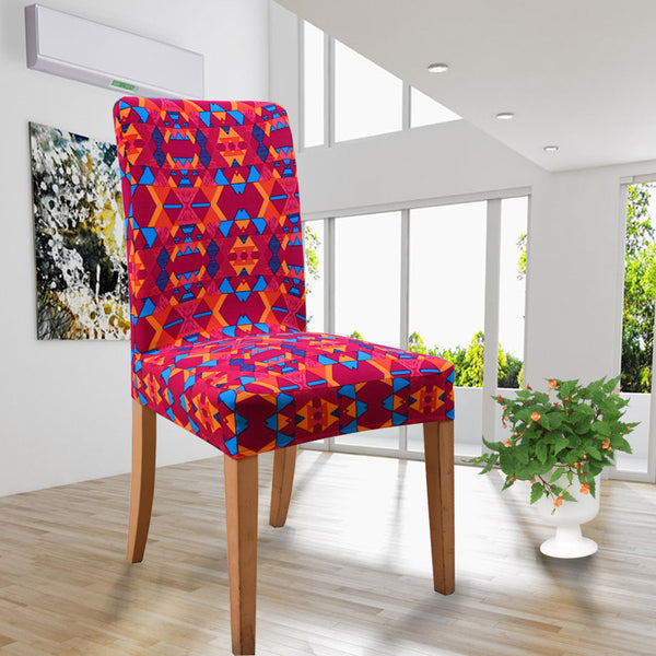 19 Printed Color Spandex Stretch Dining Chair Cover Restaurant For Weddings Banquet Folding Hotel Chair Covering
