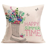 15 styles Fashion Cushion Cover Home Decor Cotton Linen Throw Flax Pillow Case  Sofa Waist Cushion Cover 43x43cm 3MY19