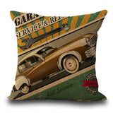 "18"" Retro Europe and the United States Car Printing Cotton Pillow Cases Cushions Cover Sets of Home Essential Decorations Hot"