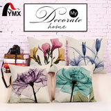 "18"" Small Fresh Flowers Cotton and Linen Sofa Pillow Cushion Cover Pillowcase Wholesale"