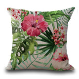 "18"" Tropical Flamingo Butterfly Cotton and Hemp Sofa Cushion Cover Decorative Pillow Cases Wholesale 2017"
