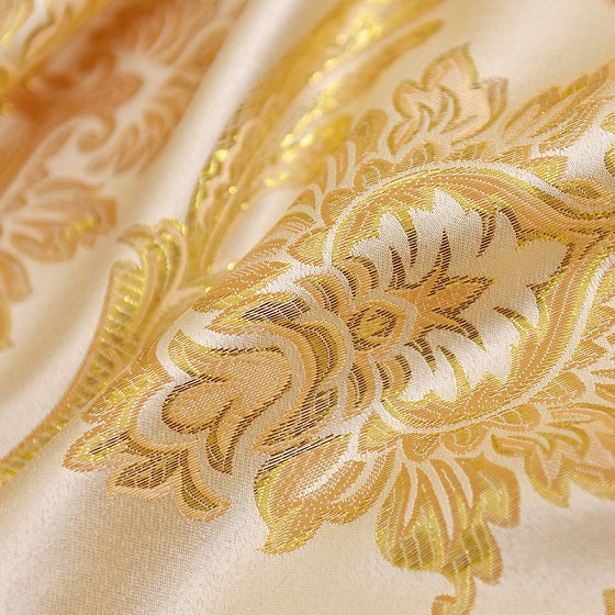 1 piece Polyester Cotton Gold Jacquard Curtains for Windows Drapes Elegant Noble Blackout Curtain for Living room Bedroom 2017