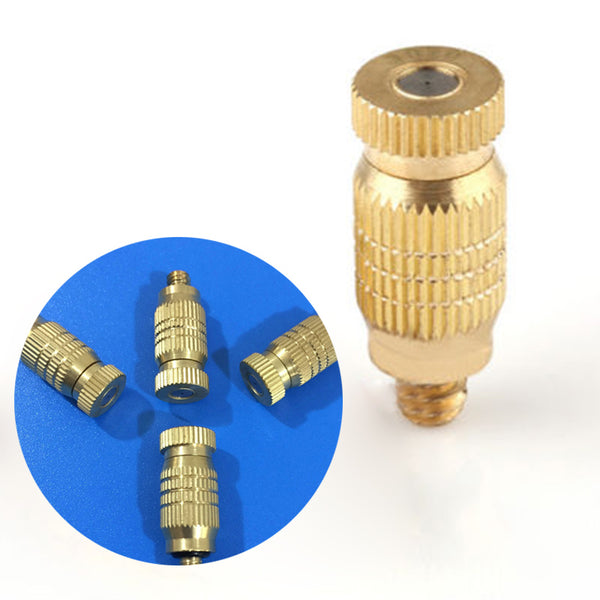 10pcs Threaded Brass Fog Mist Nozzle Misting Fogging Spray Sprinkler Head mist water sprayer