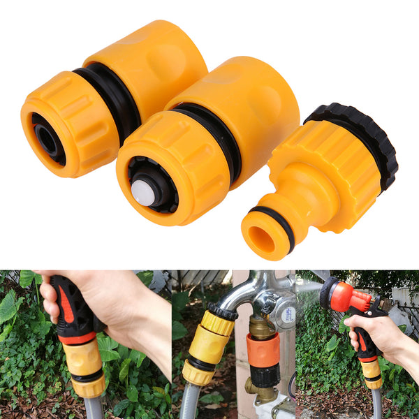 1/4 Internal Thread Joint with 2Pcs Watering Pipe Connector for 21mm 26.5mm Water-tap Garden Watering Kits
