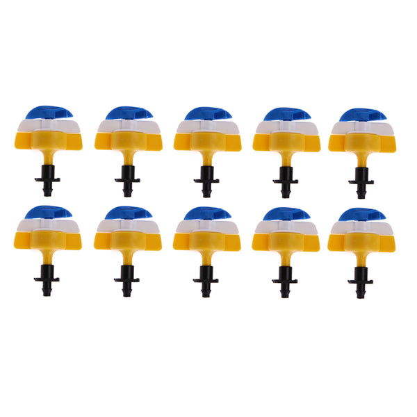 10pcs/set 360 Degree Garden Greenhouse Irrigation Spray Nozzle Rotating Single Inverted Hooks Vegetable Lawn Watering Sprinkler