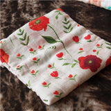 120*120cm bamboo cotton flowers/flamingo/fox/rose/feather Gauze towel bath towel newborn swaddle blanket towel crib blanket baby