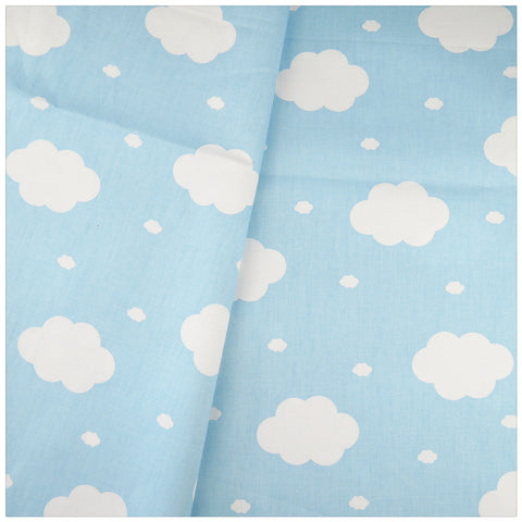 100% Cotton Fabric Blue Clouds Baby Bedding Decoration Diy Fabrics Patchwork Quilting Sewing Cloth Craft Tissue Home Textile