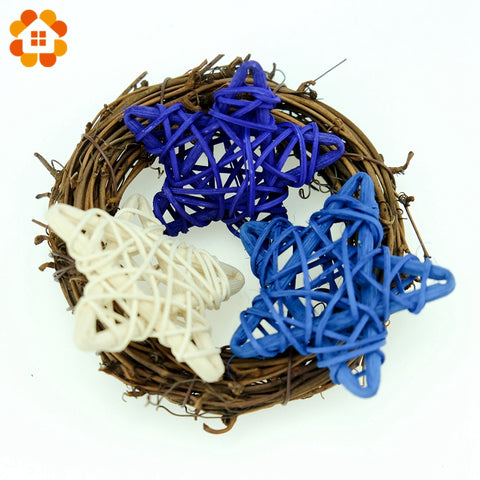 10PCS 14Colors  9CM Star Rattan Ball Colorful Sepak Takraw For Christmas Birthday Party & Home Wedding Party Decoration