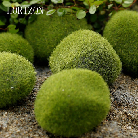 New Green Artificial Moss Stones 3 sizes to Choice Grass Bryophytes Home Garden Bonsai terrariums home decoration accessories