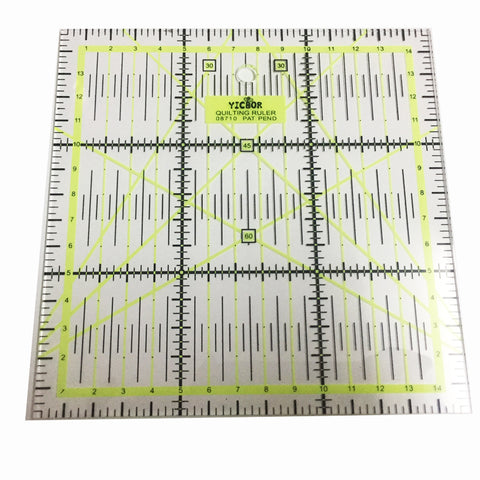 New Rulers 1pcs Home Garden Arts Crafts Sewing Needle Arts Craft Sewing Tools Accessory 15 * 15cm *0.3cm Patchwork Ruler 08710