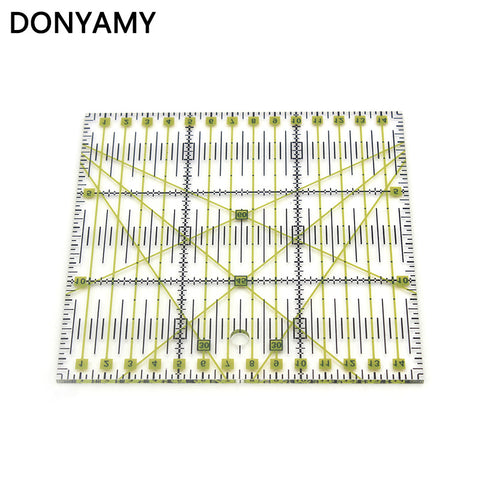 DONYAMY 1pcs Home Garden Arts Crafts Sewing Needle Arts Craft Sewing Tools Accessory 15 * 15cm*0.3cm Patchwork Ruler
