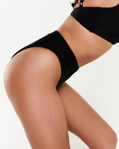High Leg Brief - Black