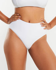High Waist Full Brief - White - RAQ