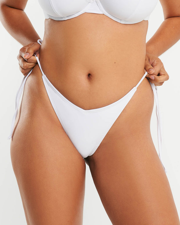 Cheeky Tie Side Brief - White - RAQ