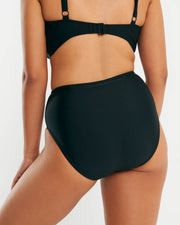 High Waist Full Brief - Black