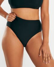 High Waist Full Brief - Black - RAQ