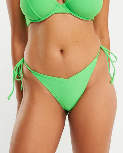 Cheeky Tie Side Brief - Neon Green - RAQ