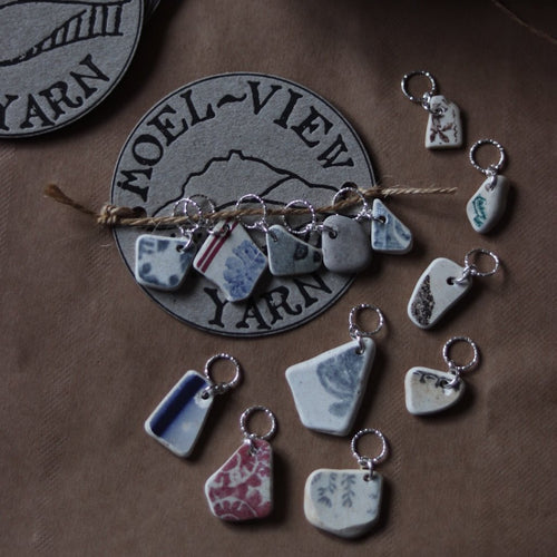 Stitch Markers - Beach Pottery