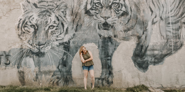big Tiger mural concrete anxiety fight or flight response fear and reality
