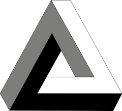 Paradox Illusion Penrose Triangle Inception impossible