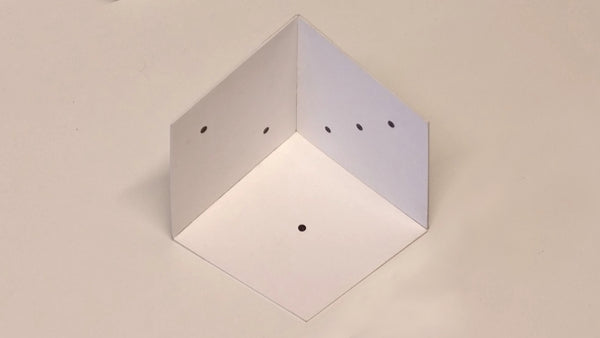 easy 3D dice Optical Illusion assembled
