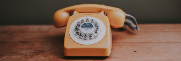 Vintage peach color phone