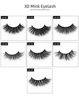 Reusable 3D Mink Lashes Full Strips Natural Style