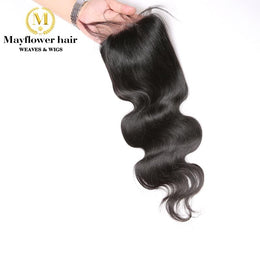 4X4 Indian straight and wavy Hair Closure