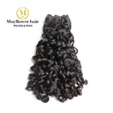 Double drawn Remy Hair French curl