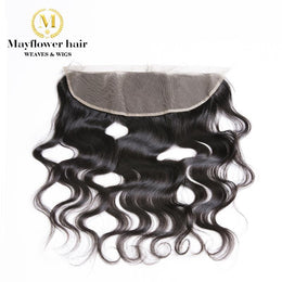 "Raw Indian Hair Frontal Closure 13""X 4"""