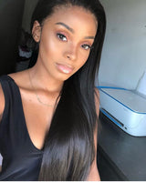 "13x6"" Transparent Straight Lace Front Wig 180% Density"