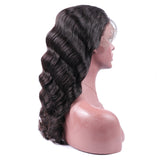"13x6"" Transparent Lace Front Natural Wave Wig 180% Density"