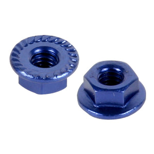 TEAM TITAN M4 SERRATED WHEEL NUT BLUE 30020043