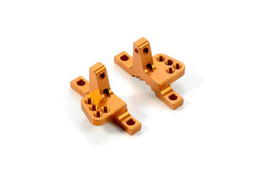 XRAY ALU UPPER CLAMP WITH 4 ADJ. ROLL-CENTERS (L+R) - ORANGE