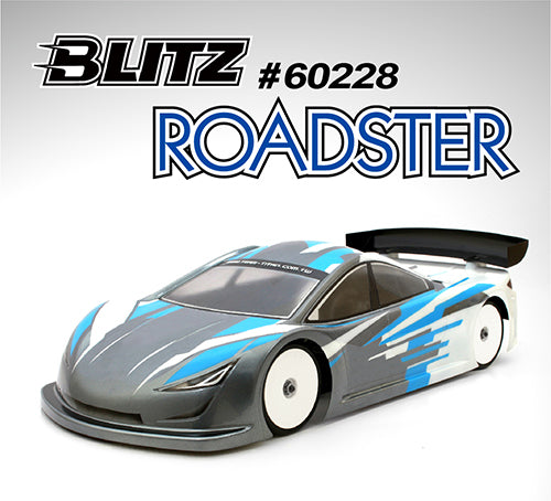 60228 - BLITZ ROADSTER 1/10 190mm Touring Car body-shell 0.7mm - PRE ORDER