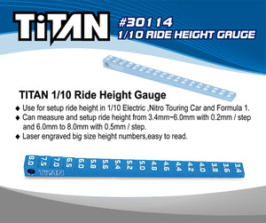 TEAM TITAN SETUP 1/10th ride height gauge 30114