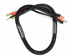 Team Zombie charge cable black - 4mm to 4/5mm step
