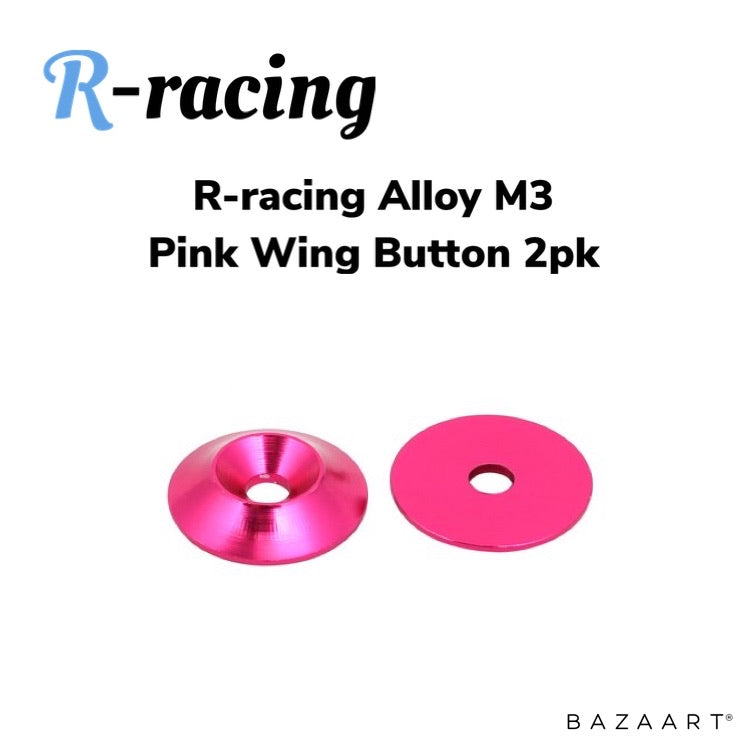 R-racing Alloy Light Weight Wing Button 2pk - Pink