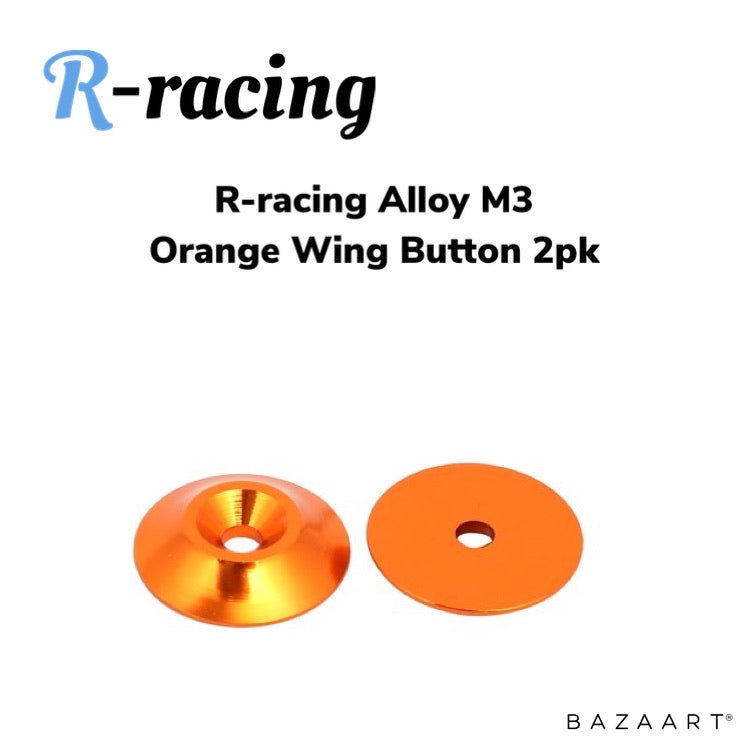 R-racing Alloy Light Weight Wing Button 2pk - Orange