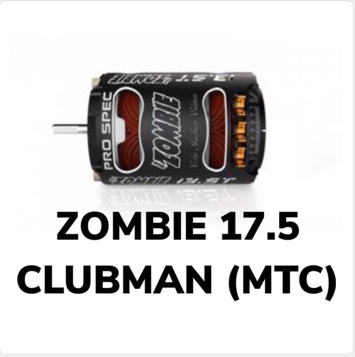 TEAM ZOMBIE 17.5t CLUBMAN SPEC BRUSHLESS MOTOR ( MTC LEGAL)