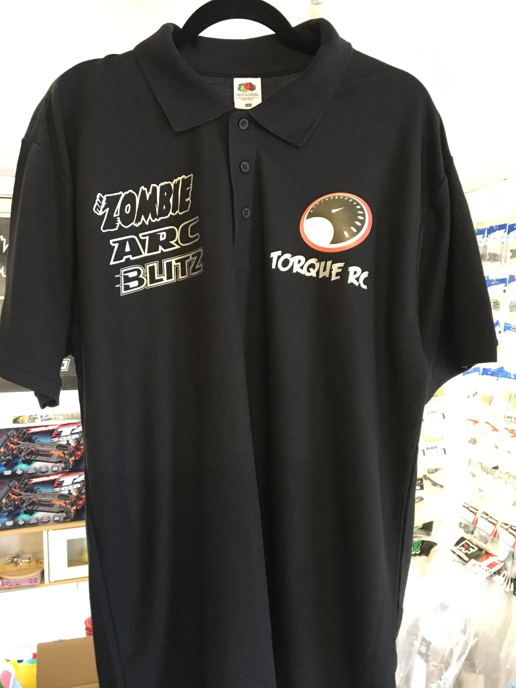 TORQUE RC POLO BLACK - XL
