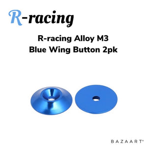 R-racing Alloy Light Weight Wing Button 2pk - Blue